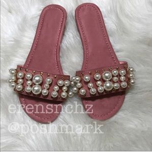 Shoes - Embellished slide in PINK! Sandal 6